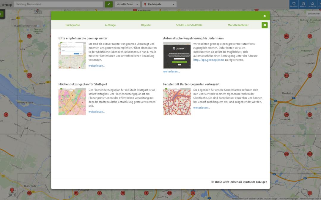 Dashboard als neue Startseite