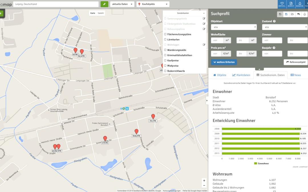 Sozioökonomische Daten für Umkreisgemeinden