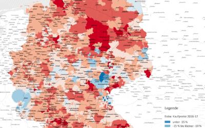 Der Osten holt auf: Preise für Wohnraum steigen weiter