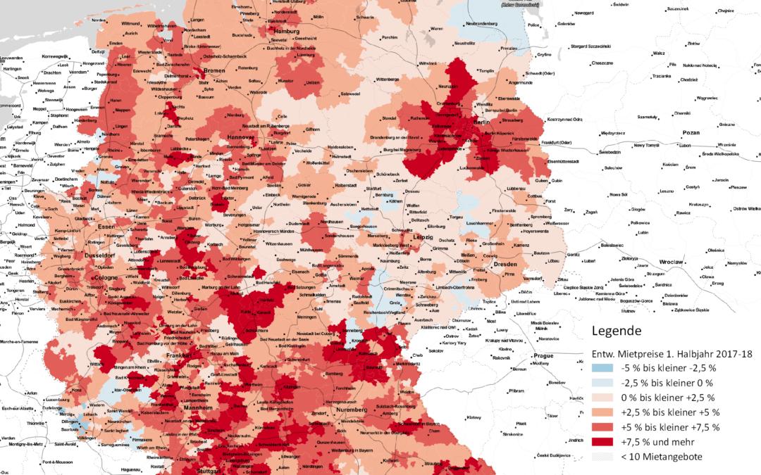 Begehrtes Umland: Mietpreise für Wohnraum steigen vor allem im Umland von Metropolen