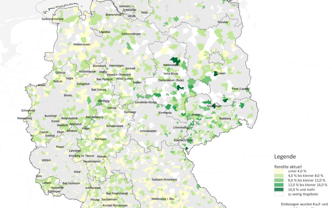 Kleinstädte: Hohe Renditen vorwiegend im Osten möglich
