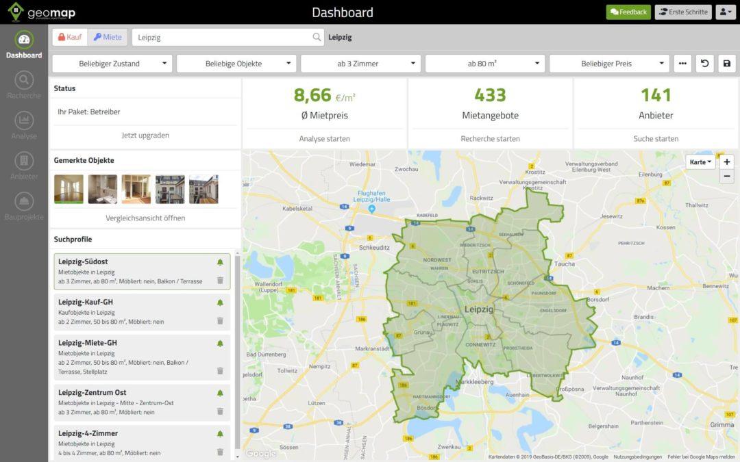 Neues Design für Online-Datenbank geomap