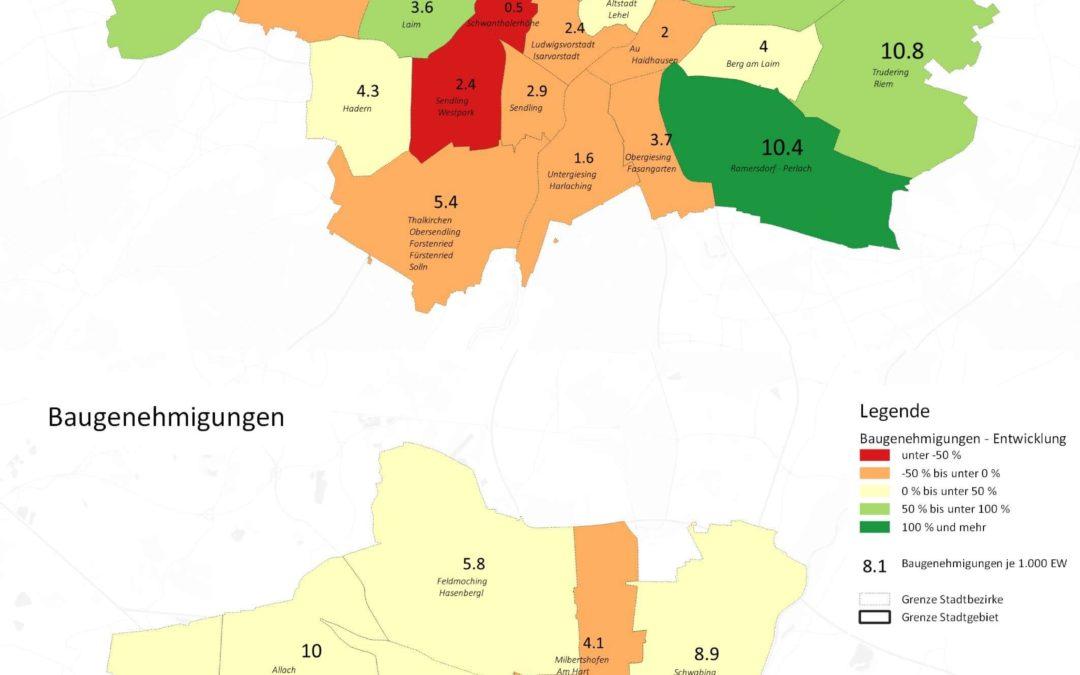München: Zahl der Baufertigstellungen und Baugenehmigungen in Randgebieten steigt