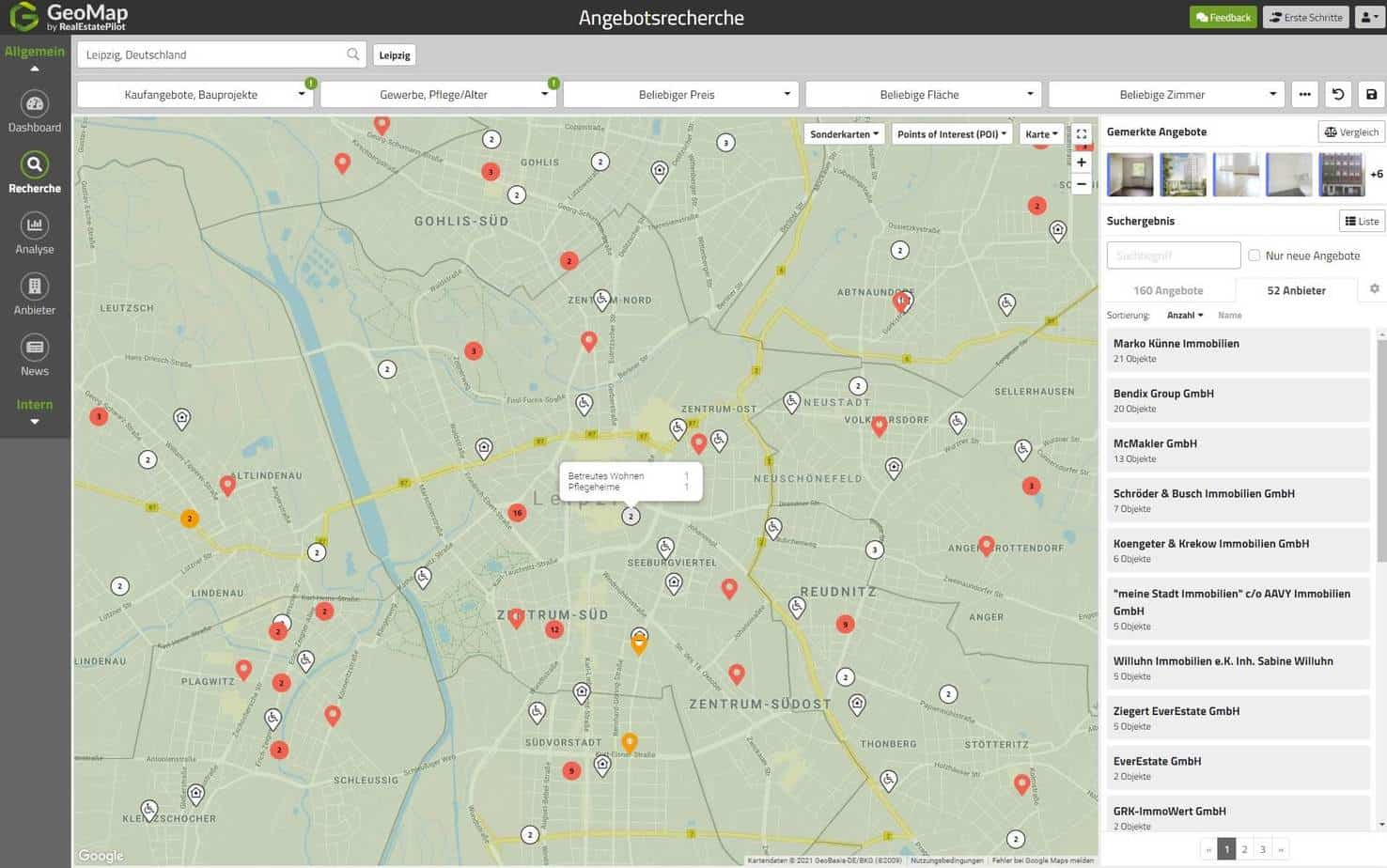 GeoMap-Gewerbeangebote
